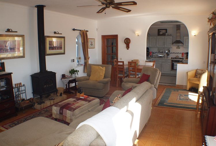 Villa for Sale Sao Bras de Alportel Lounge Log burner