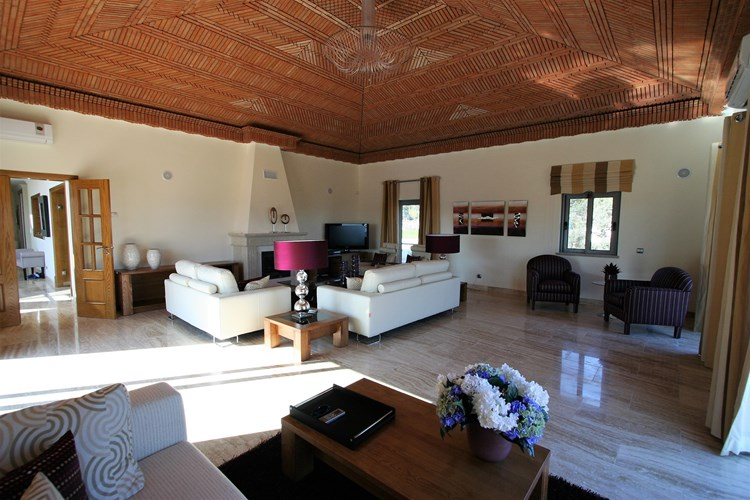 Villa for Sale Modern Sao Bras de Alportel Lounge Fireplace